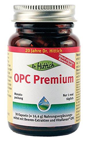 OPC Premium - 30 Traubenkernextrakt Kapseln - Antioxidantien stärken ihr Immunsystem - Zusätzlich mit wertvollen Extrakten aus 12 Beeren und Früchten - Von Dr. Hittich