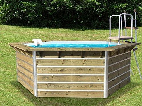water' Clip–20153–Pool aus Holz 3,50x 2,95x 1,11M Cebu