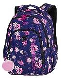 Prime Schulrucksack Rucksack 26 L STRIKE Bag Backpack Rosengarten Roses Garden [006]