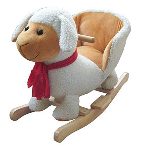 Schaukelpferd Schaukel Plüsch Schaukeltier Stuhl Sound Baby Kinder (Schaf - Schaukelpferd Erwachsene Größe