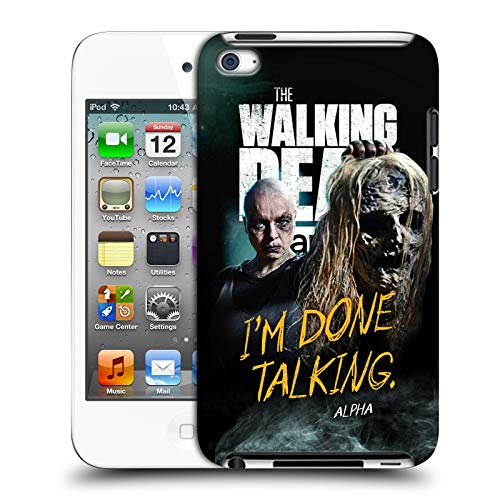 fizielle AMC The Walking Dead Alpha Staffel 9 Zitate Harte Rueckseiten Huelle kompatibel mit Apple iPod Touch 4G 4th Gen ()