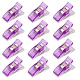 A-goo 1pcs Kunststoff-Clip Clips Klemmen Für Plastikbindung Nähen Handwerksmesse lila