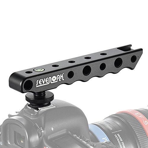 Andoer Sieben Eichen K-H01 Handvideostabilisator Griff Kamera-Blitzschuh Halter Halterung Unterstützung für Nikon Canon Sony-Kamera-Monitor Mikrofon LED-Leuchten