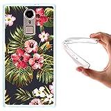 WoowCase Doogee F5 Hülle, Handyhülle Silikon für [ Doogee F5 ] Tropische Blumen 1 Handytasche Handy Cover Case Schutzhülle Flexible TPU - Transparent