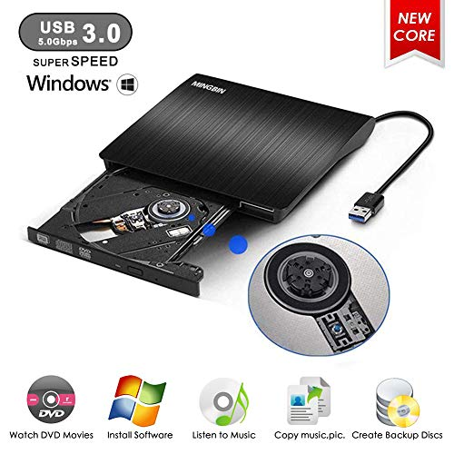 Unidad DVD Externa,MingBin Grabadora CD DVD Externa
