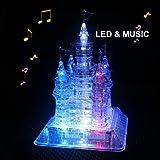 StillCool 3D-Puzzle 3D-Montage Crystal Castle Puzzle, 3D-Musik-Puzzle mit schönen Light-Up Musical, 105 Stück (1)