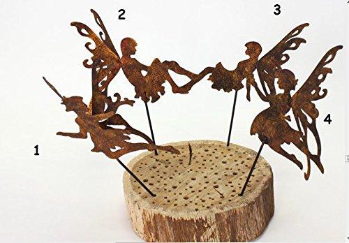 Fee Gartenstecker/Ministecker 26cm Edelrost verschiedene Motive wählbar / Preis pro Stück - Kein Set ( Motivwunsch per Email mitteilen)
