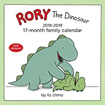 Rory the Dinosaur Family Organiser 2018-2019 17-Month Square Wall Calendar