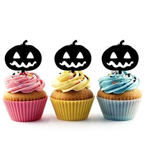 ck O Lantern Kuchenaufsätze Hochzeit Geburtsta Acryl Dekor Cupcake Kuchen Topper Stand für Kuchen Party Dekoration 10 Stück ()
