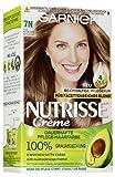 Garnier Nutrisse Creme Coloration Nude Natürliches Mittelblond 7N Färbung, 3er Pack (3 x 1 Stück)