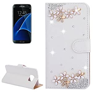 Crazy4Gadget For Samsung Galaxy S7 / G930 Diamond Encrusted Flower Pattern Horizontal Flip Leather Case with Holder & Card Slots
