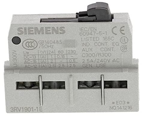 CONTACT BLOCK, FRONT, 1NO/1NC 3RV19011E By SIEMENS by Best Price Square