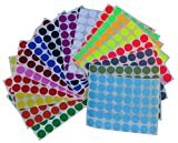 Farbe Codierung Etiketten ~ 3/10,2cm runden Punkt Aufkleber–10verschiedene Farben Größe 11/16Durchmesser rund DOTS