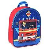 Sam le Pompier 3D Sac à Dos Enfants Rouge Bleu 9,5 L - On Duty