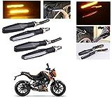#10: AutoStark Motorcycle AMBER LED Turn Signal Indicators Light Lamp Regal Raptor 4Pcs KTM Duke 200
