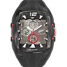 All Blacks - 680066 - Montre Homme - Quartz Analogique - Digital - Cadran Noir - Bracelet Plastique Noir