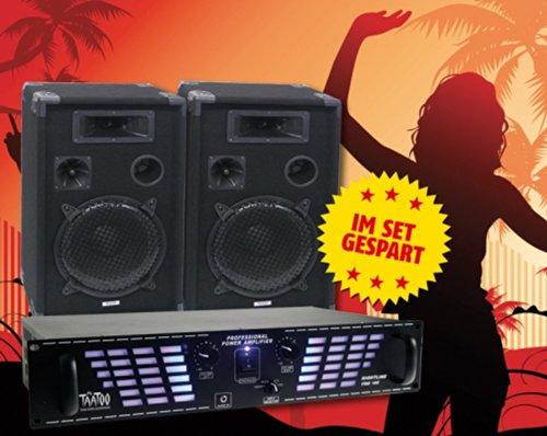 DJ-Set PAS-1500, 400W Verstärker + DJ-Pro12 PA-Boxen