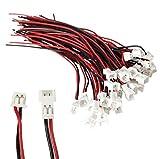 10 Paar 20 Stück 2Pin 1.25mm 1,25mm Mikro Micro JST Premium Stecker Buchse 10cm 28AWG Kabel von Mr. Stecker Modellbau