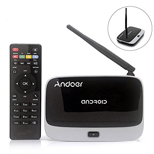 Preisvergleich Produktbild CS-918T 1080p intelligente Android 4.4 TV Box sichtbar RK3128 Quad-Core ARM Cortex A7 1,3 GHz 2G / 16G H.265 XBMC DLNA Miracast Airplay WiFi Bluetooth 4.0 OTG TF Card Slot externe Antenne