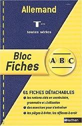 Blocs fiches ABC BAC : Allemand, terminales L, ES, S