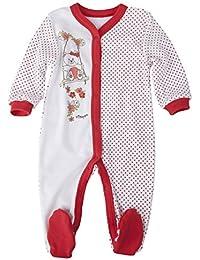 Para Ropa Infantil Pelele Blanco con rojo tupfern aufdruck 0207