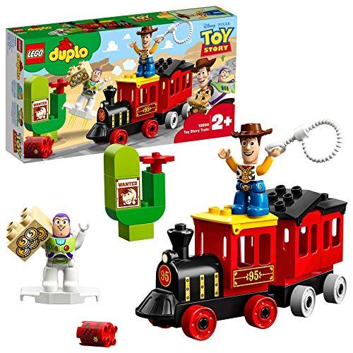 LEGO DUPLO - Tren de Toy Story, Juguete de Construcción con Personajes de la Película de Pixars y Figura de Woody y Buzz Lightyear (10894)