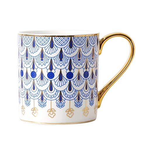 Y·z Kaffeeservice Keramikbecher Porzellankaffeetasse Britische Haushaltskeramikbecher 400Ml Große...