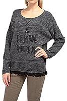 0039 Italy Damen Sweatshirt LEIA, Farbe: Anthrazit