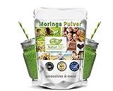 Superfood Smoothie Moringa oleifera Pulver: 900g feinste Rohkostqualität - leckere Smoothies zum schnellen Abnehmen, Entschlacken und Entgiften machen mit Chia Samen, Acai und Moringa.
