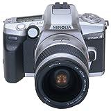 Minolta Dynax 4 Spiegelreflexkamera Twin-Kit mit AF 28-80 mm AF 75-300, Tasche