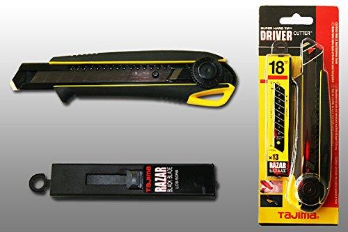 RAZAR BLACK TAJIMA Driver-Cutter 18mm mit Rädchen + 10 18mm Ersatzklingen