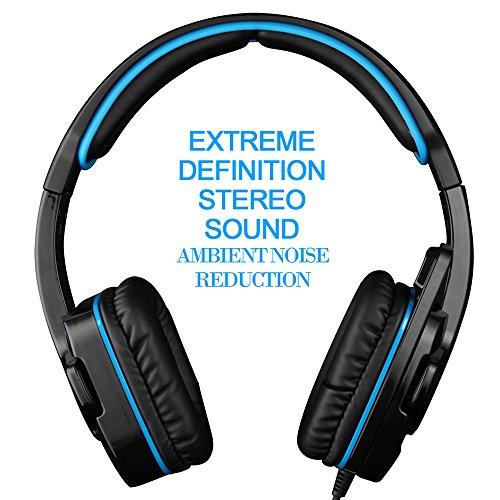 SADES SA-708GT 3.5mm Gaming Kopfhörer Mic Noise Cancellation Musik Headset Schwarz-blau Upgrade Version von SA-708 für PS4 XBOX 360 Tablet PC Handys - 8