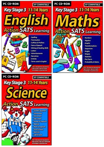 Action Learning SATS Key Stage 3 Triple Pack 1 (English, Maths, Science) Test