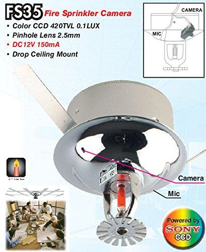 Mikrokamera verdeckt in Sensor Rauchmelder Küchenbrände nicht funktionierenden