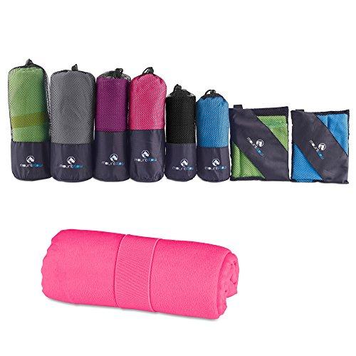 Mikrofaser Handtücher Schnelltrocknende Fitness Tücher: Großes Reisehandtuch & Sporthandtuch für Fitnessstudio für Sauna, Training, Schwimmen & Yoga - Antibakterielles Strandhandtuch & Badetuch