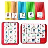 Wekold Children Wooden Counting Sticks Math Learning Developmental Arithmetic Toy Mathematics