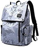 "KAKA Mochila Camouflage Teen Fashion Laptop Backpack Men 15.6"" Oxford Waterproof Large Multifunctional"
