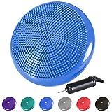 Reehut Coussin d'équilibre Pompe Coussin Gonflable pour Core Training, Fitness, rééducation 33cm / 13in - Bleu