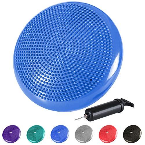 reehut pedana propriocettiva equilibrio stabilità manuale elettronico gratuito - gonfiabile con pompa aria per esercizi terapia fitness allenamento - blu