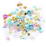 Kanggest 5000Pcs Estrella Triángulo Mezclado Multi-Forma Lentejuelas de Colores para los Oficios, el Arte del Clavo y la Decoración