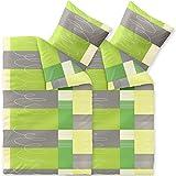 CelinaTex Bettwäsche 4-tlg. 155x220 Bettgarnitur Baumwolle 80x80 Kissenbezug Reißverschluss Enjoy Ellen 6000399