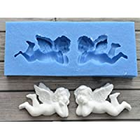 Sugarcraft ángel bebé molde de silicona Fondant molde decoración de pasteles herramientas Chocolate NY Cake Mold