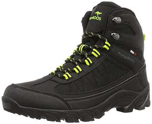 KangaROOS K-Trekking 3008m Ii, Chaussures de Randonnée Hautes Homme Noir/vert lime