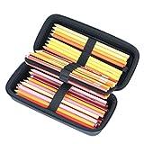 Hart Reise Schutz Hülle Etui Tasche für Sanford Holz Prismacolor Premier farbigen Bleistifte von co2CREA, Passt bis zu 60 Slots