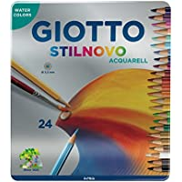 Giotto 256300 Acquarell Pastello Stilnovo, 3.3 mm, Confezione da 24 da 3 Anni in Poi, 256300