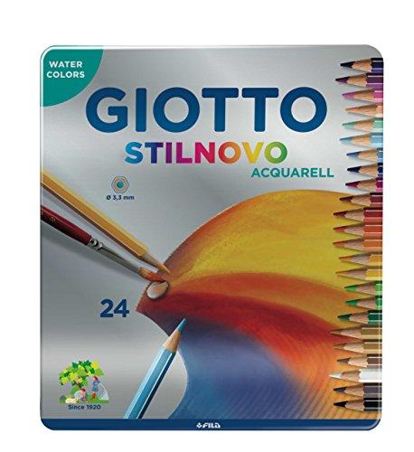 Fila- Giotto Stilnovo Lápices de Colores, 24 Unidades, metálico (2563)