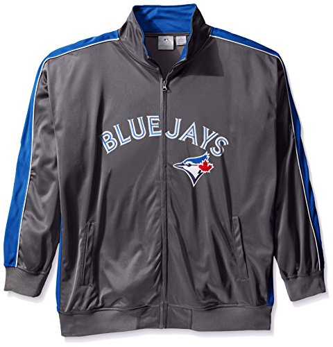 MLB Toronto Blue Jays Herren Team Reflektierende Tricot Track Jacket, 4X/hoch, anthrazit/royal (Track Jacket Charcoal)