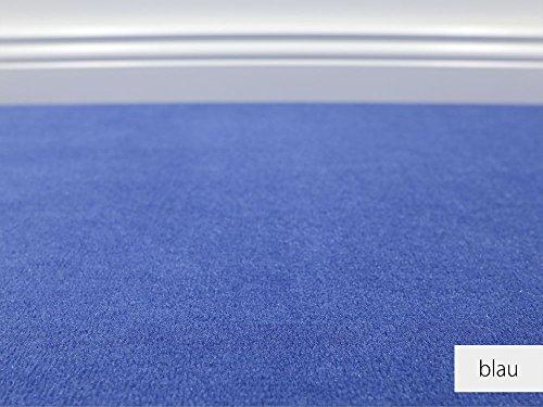 Teppichboden Auslegware Vorwerk Bijou UNI Blau Muster