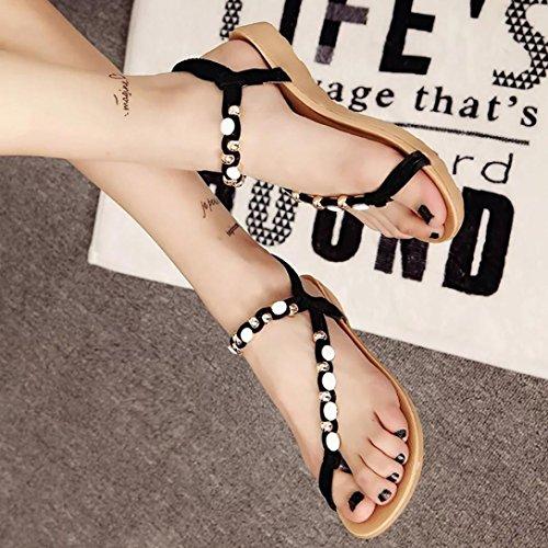 Bovake Sandales Pour Femme Multicolore 36.5 EU Noir