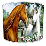 Premier Lampenschirme–Deckenleuchte Love Horses Lampenschirme, plastik metall, mehrfarbig, 30,5 cm